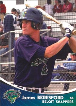 James Beresford's 2009 Beloit Snappers card