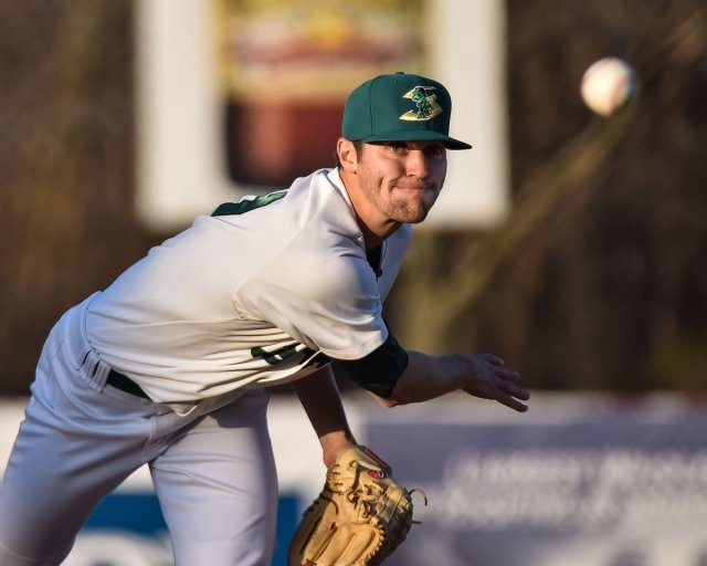 Oakland Athletics prospect James Naile delivers a pitch for the Beloit Snappers earlier this year. (Photo by Dave Baker)