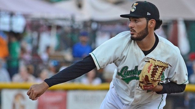 RHP Kevin Gadea struck out 11 for the Clinton LumberKings in their Game 2 win Sunday. (MiLB photo)