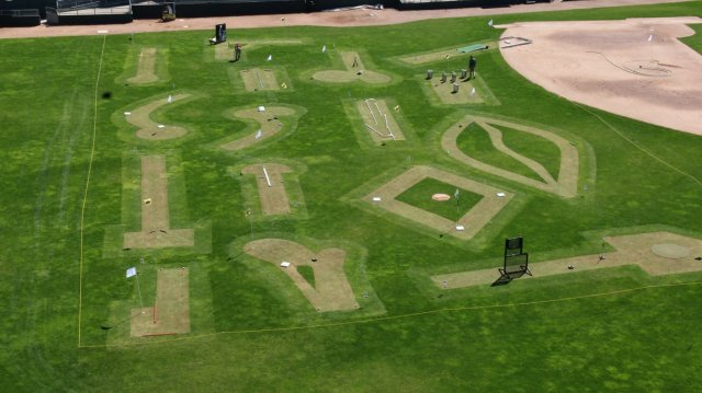 The mini-golf course at Cooley Law School Stadium. (Lansing Lugnuts photo)