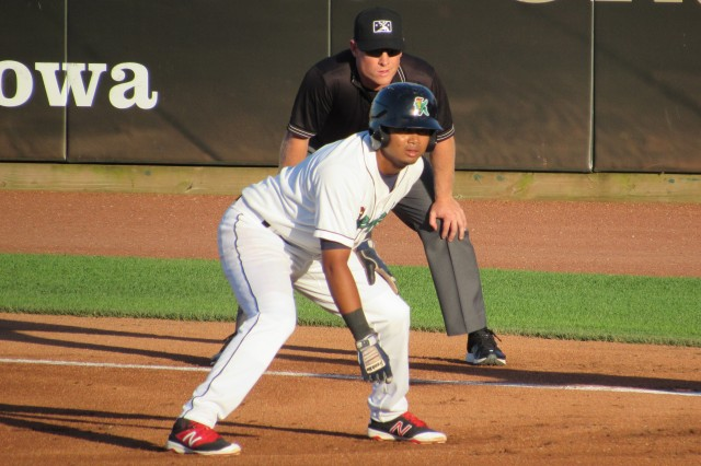 Luis Arraez went 4-for-4 for the Cedar Rapids Kernels on Thursday. (Photo by Craig Wieczorkiewicz/The Midwest League Traveler)