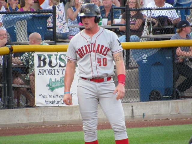 Great Lakes Loons first baseman Matt Jones (Photo by Craig Wieczorkiewicz/The Midwest League Traveler)