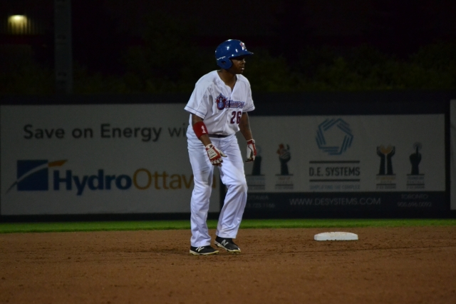 Ottawa Champions rightfielder Adron Chambers played for the Quad Cities River Bandits in 2008.