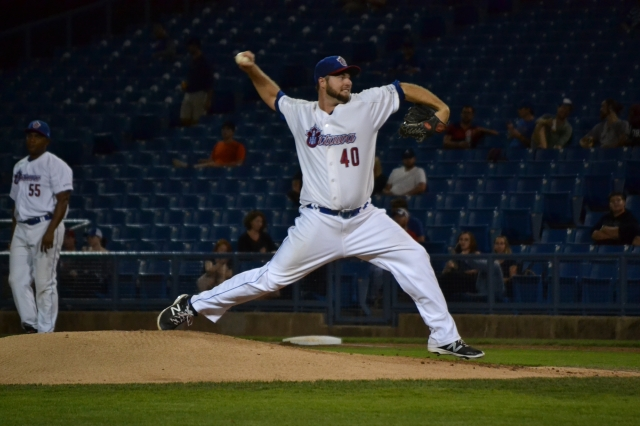 Former Quad Cities River Bandits pitcher Austin Chrismon threw a gem for the Ottawa Champions in the Can-Am League finals clincher this year.