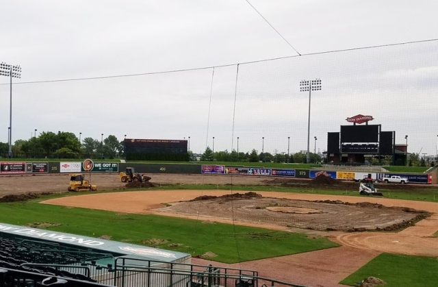 Dow Diamond is getting a new playing surface this offseason. (Great Lakes Loons photo)