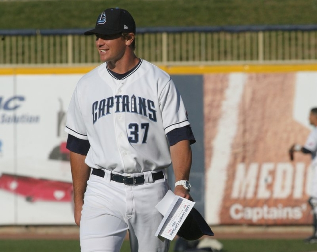 Baseball America's Minor League Manager of the Year, David Wallace, was a Midwest League skipper in 2012. (Photo courtesy of the Lake County Captains)