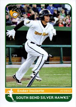 Ender Inciarte's 2012 South Bend Silver Hawks baseball card