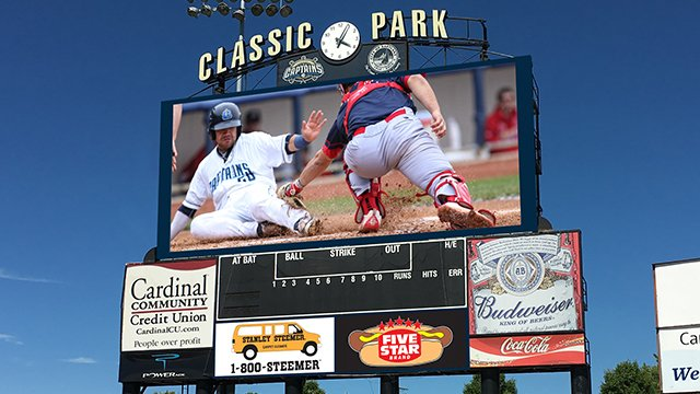 This is what Classic Park's new video board will look like. (Image courtesy of the Lake County Captains)